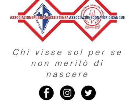 Al via il Tesseramento 2018 della Pubblica Assistenza e dei Donatori di sangue di Colle Val d'Elsa