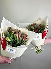 Букет из 11 махровых тюльпанов