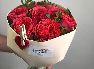 Букет из пионовидных роз
