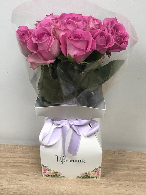Коробочка Цветник из 9 роз