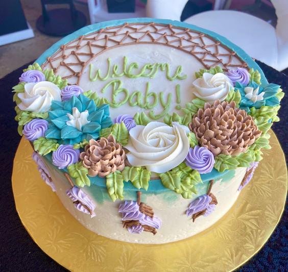 bohemian baby shower cake.jpg