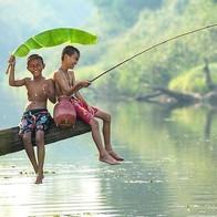Students Fishing