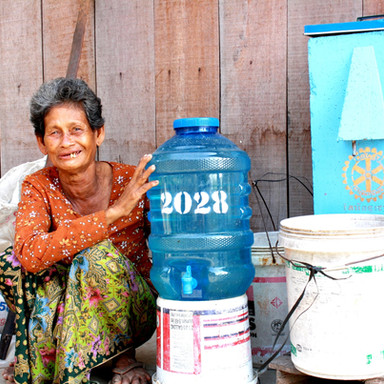 Biosand Filter Brings Clean Water to a Villager