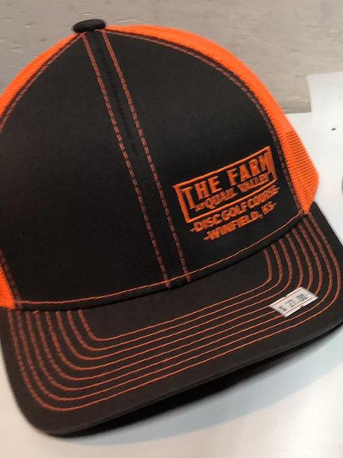 Snap orange mesh hat