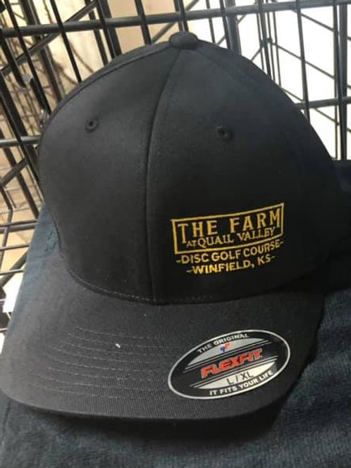 Flexfit hat black with gold lettering