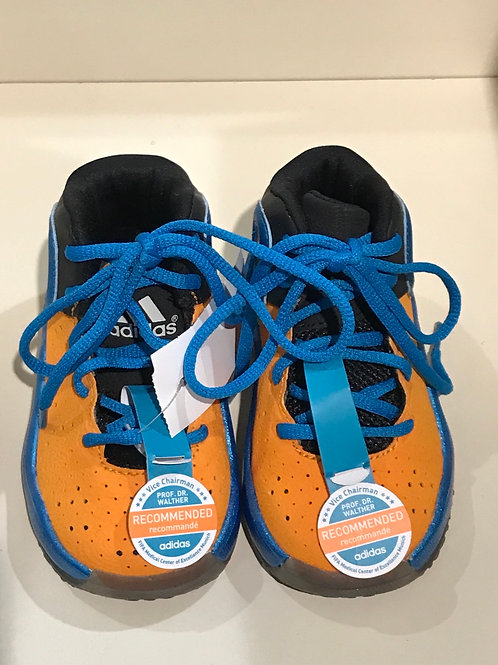 Size 6 toddler BRAND NEW orange and blue high tops