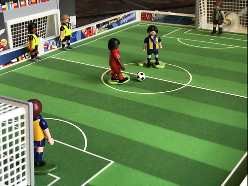 Playmobil Soccer set with electronic scoreboard