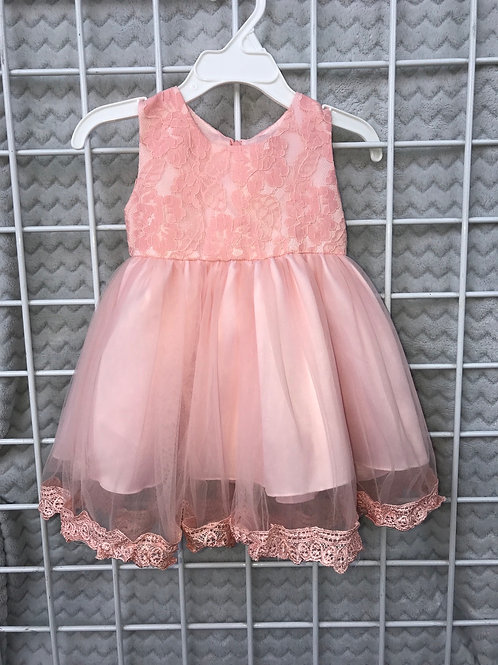 BRAND NEW pink toulle dress by Iefiel size 6/12 mos