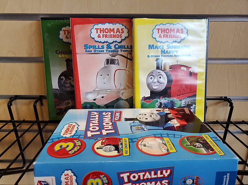 Boxed case of 3 Thomas DVDs