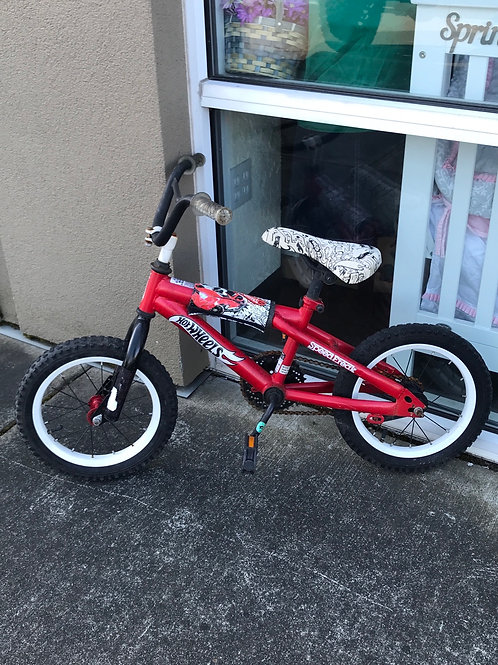"""Hot Wheels 14"""" bike"""