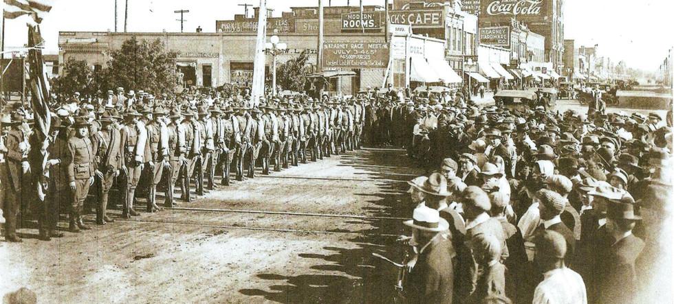 World War I parade downtown Kearney