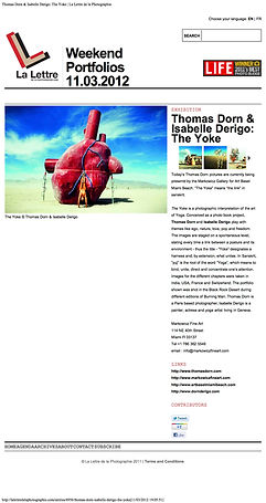 Isabelle Derigo perfomance artist The Yoke Press Portfolio Lettre de la photographie