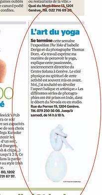 Isabelle Derigo perfomance artist The Yoke Press La Tribune Geneva