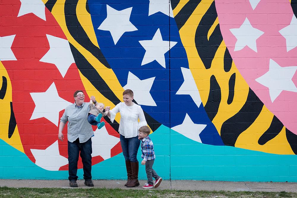tiger mural in ohio city