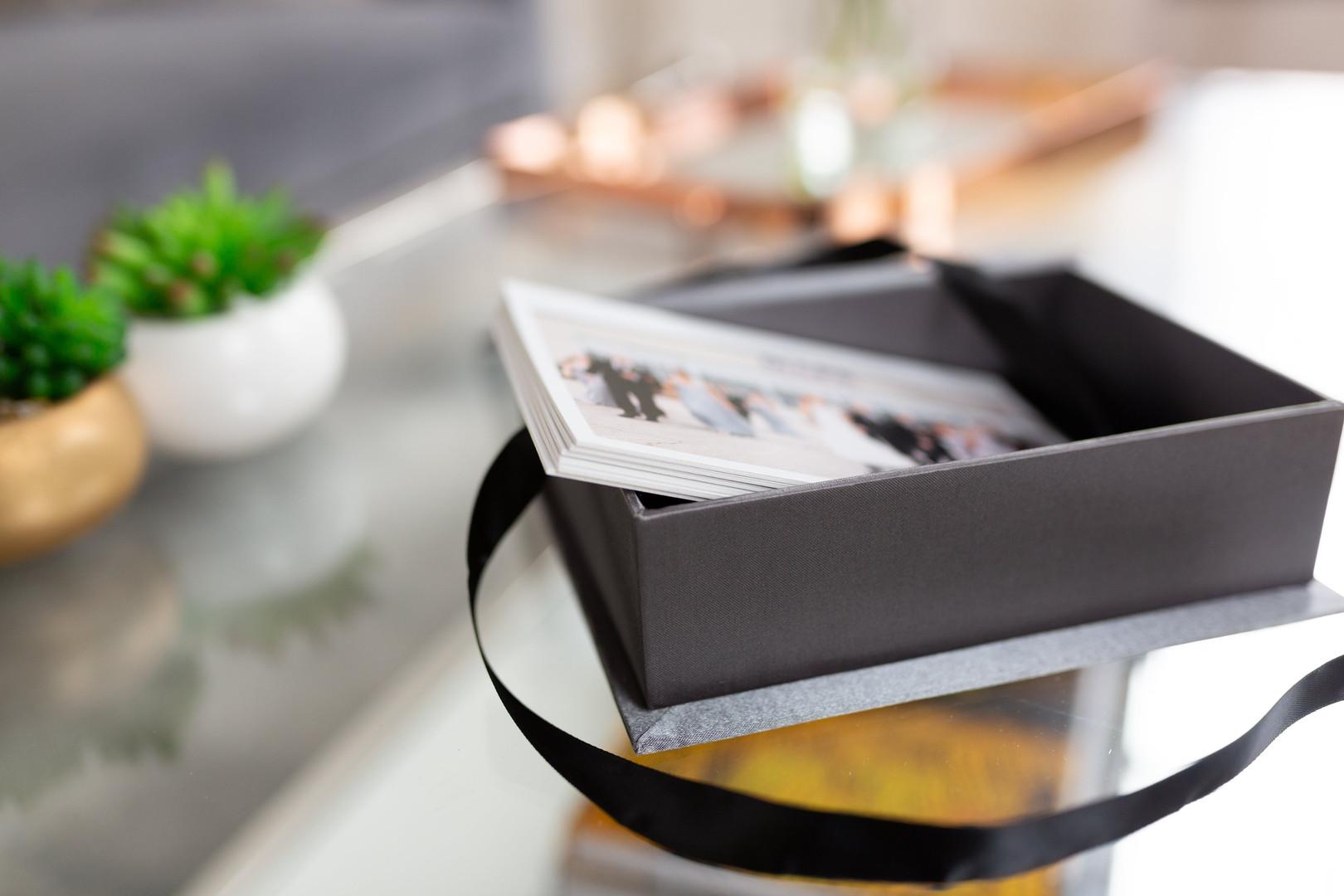wedding prints in luxury box