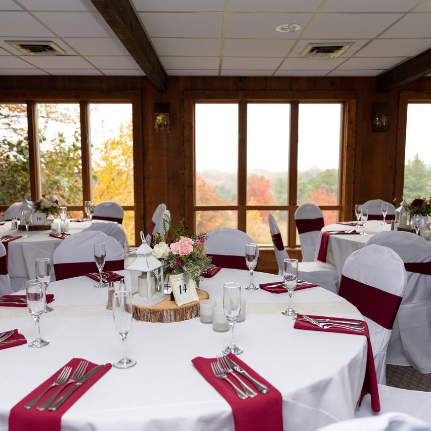 Patterson's Fruit Farm Wedding Indoor reception space