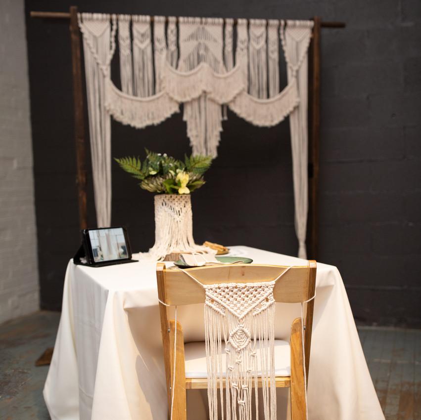 Macrame Wedding Details Cleveland Ohio Wedding