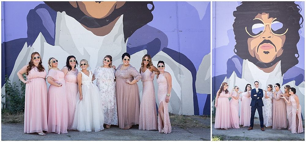 bridal party prince mural cleveland