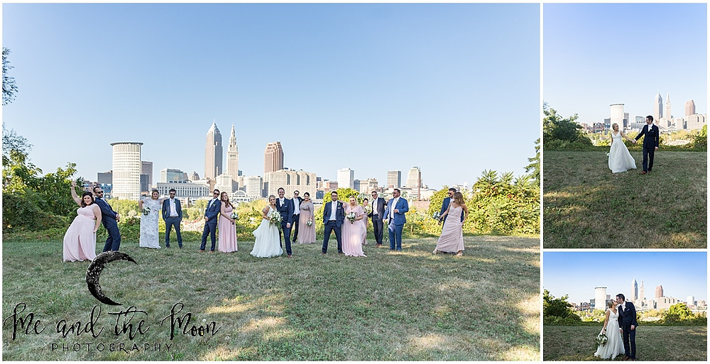 cleveland skyline wedding photos
