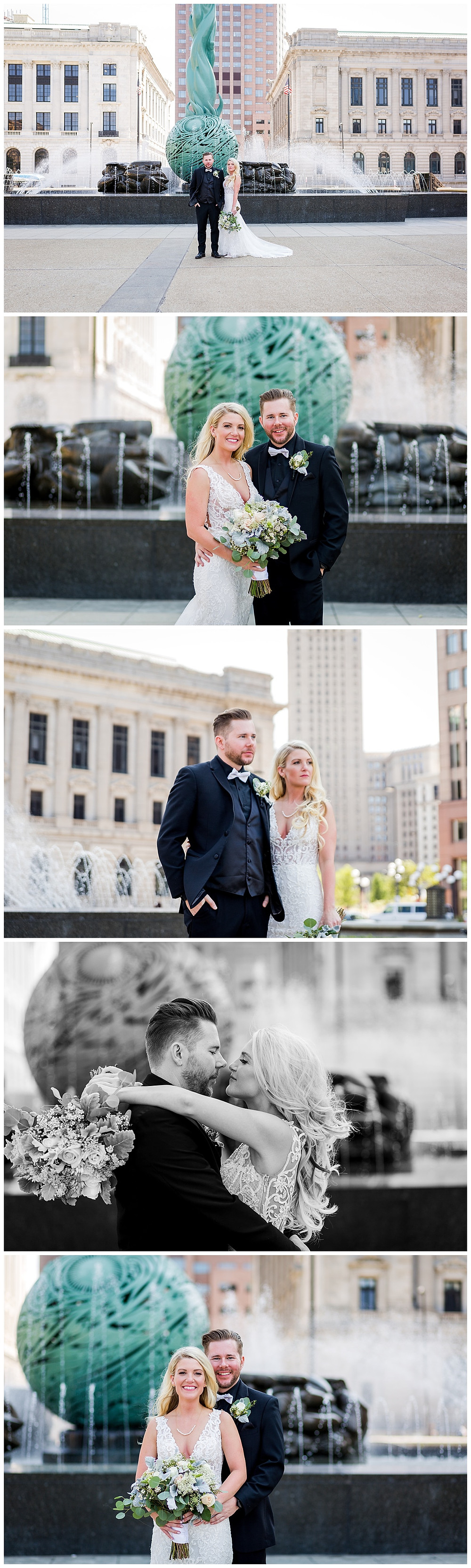 bride and groom downtown cleveland