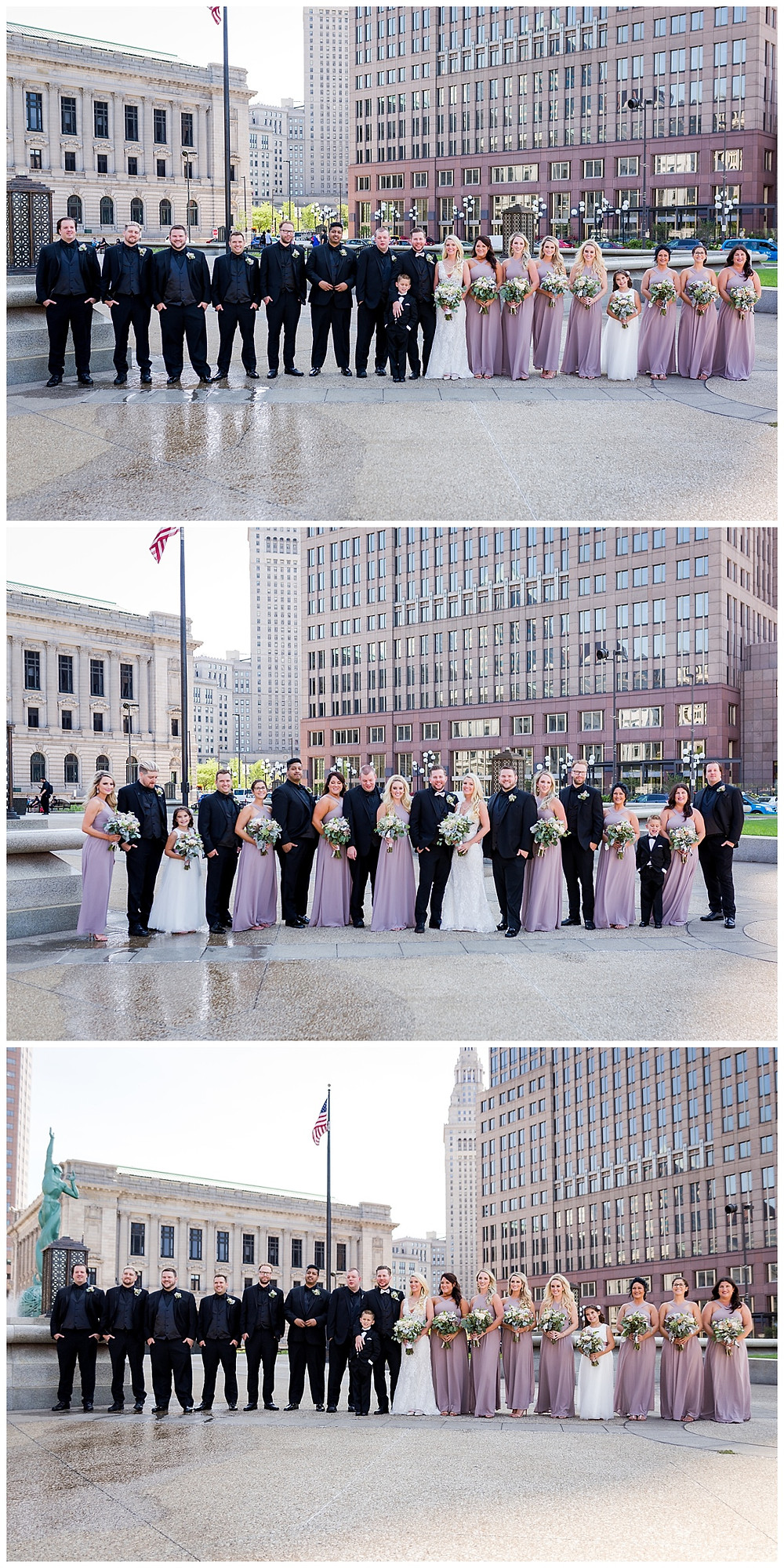bridal party portraits downtown cleveland