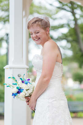 bride at the gazebo in tremont