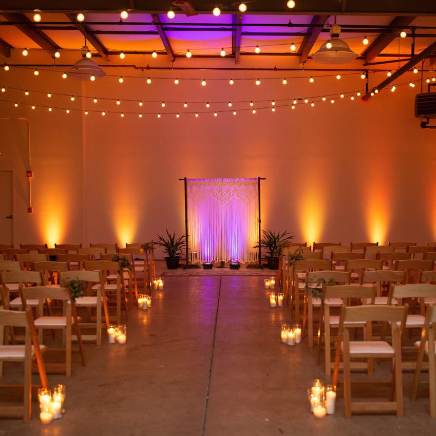 Ceremony Lighting Cleveland Ohio Solus Lighting Cleveland Wedding