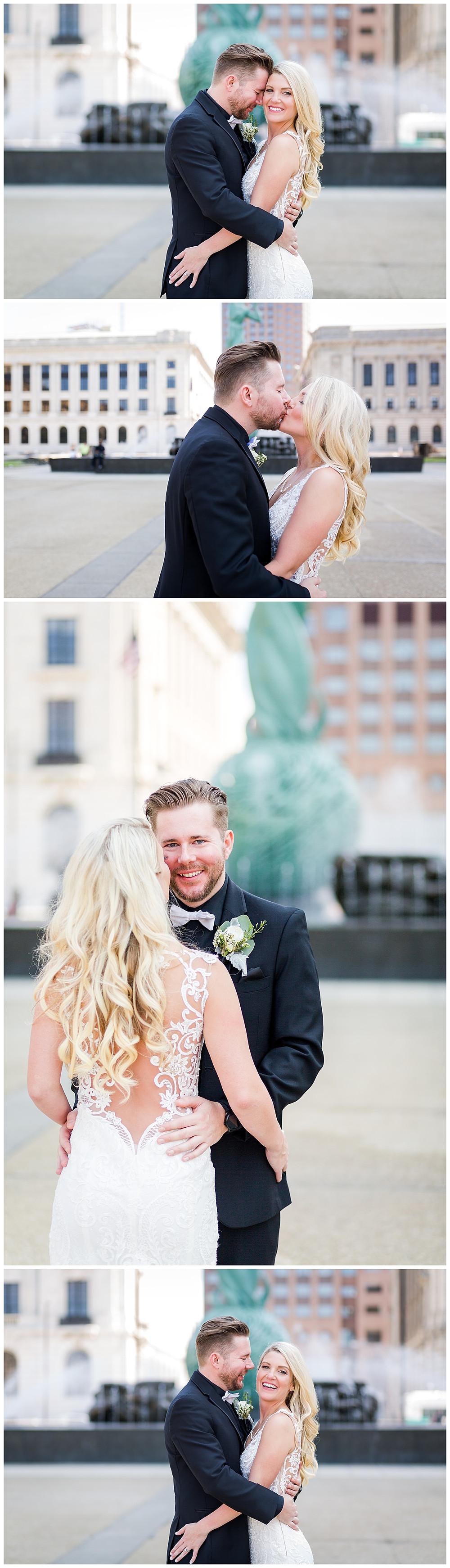 bride and groom photos cleveland ohio