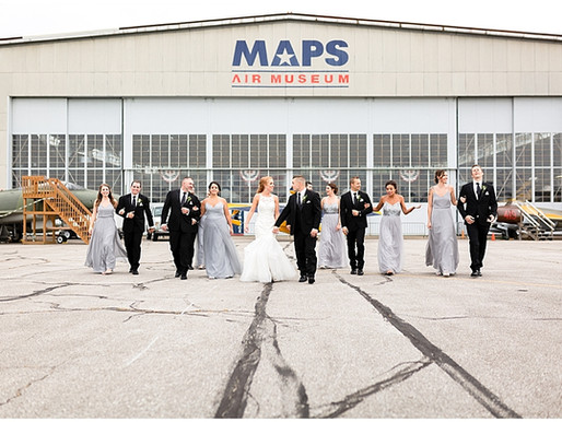 Lauren and Hugh's Beautiful MAPS Air Museum Wedding in Canton OH
