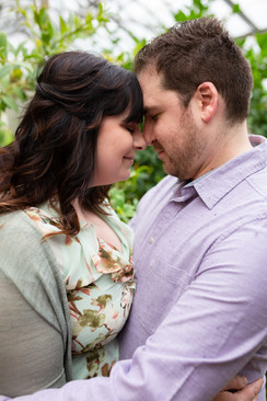 engagement session at rockefeller park greenhouse
