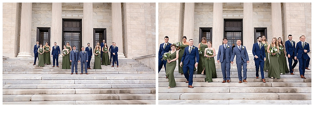 bridal party at the cleveland museum of art