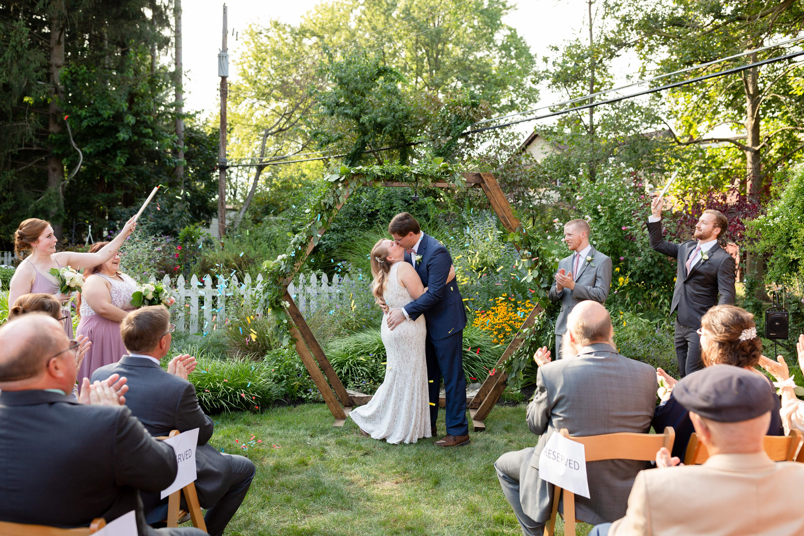 backyard wedding in rocky river ohio