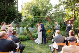 rocky river ohio backyard wedding