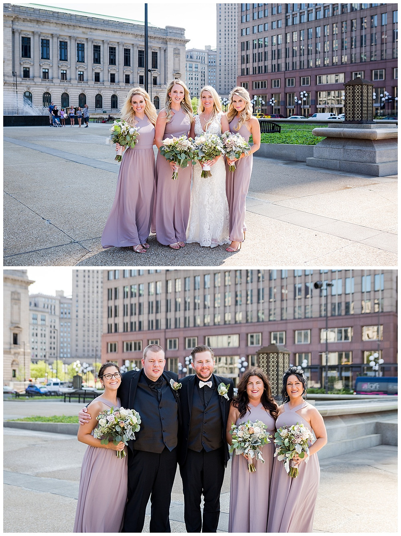 bridal party photos cleveland