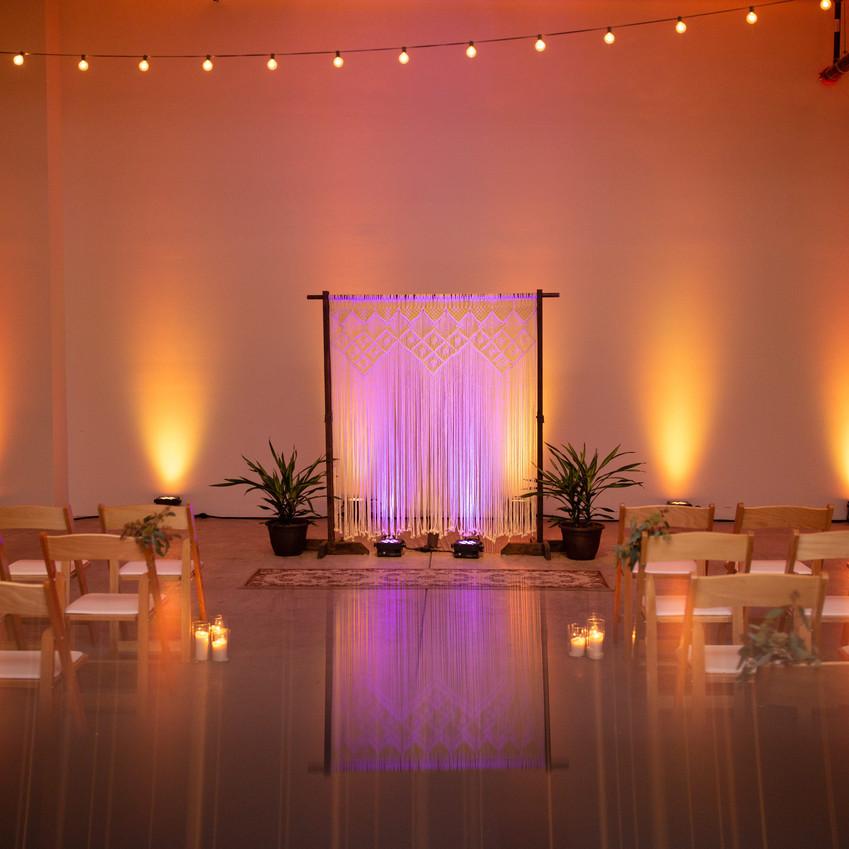 Solus Lighting Uplighting at Lake Affect Studios in Cleveland Ohio