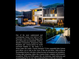 Apogee House in Vail Offered at $45,000,000.00