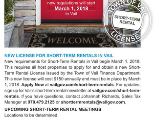 Attention Vail Homeowners-if you short term rent your home, this is a must read!