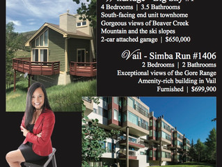 Vail, Colorado Open House Wednesday 7/18/18 from 3-5pm @ Simba Run #1406