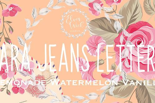 Lara Jeans Letters