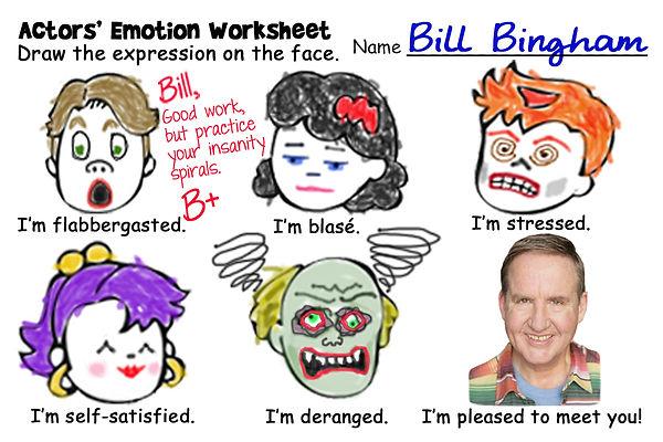 Bill Bingham at drama school