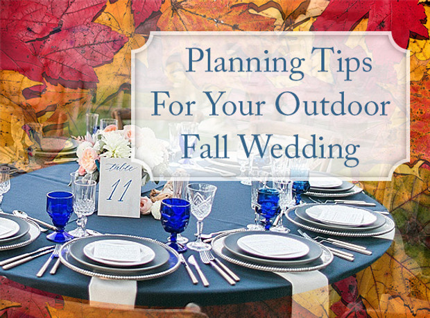 7 Tips For Planning A Small Courthouse Wedding: Planning Tips For Your Outdoor Fall Wedding