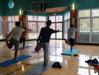 Yoga Class Brings Relaxation to MAIA