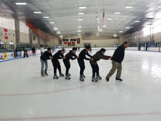 Ice Skating before the Big Storm!