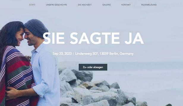 hochzeit feiern website templates moderne hochzeitseinladung - Hochzeitshomepage Beispiele