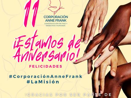 La Corporación Anne Frank celebra su 11vo aniversario en defensa a los derechos humanos