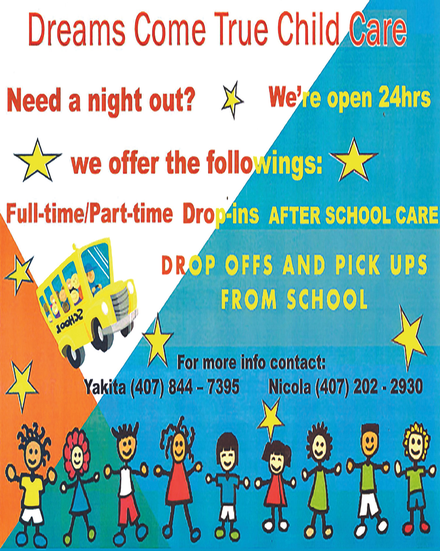 above all dreams photography cinema digital design media daycare flyer