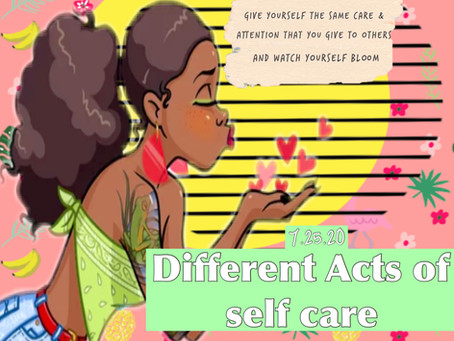 Different acts of self-care