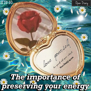 OD: The importance of preserving your energy