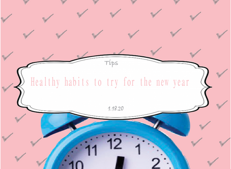 Healthy Habits to try for the New year