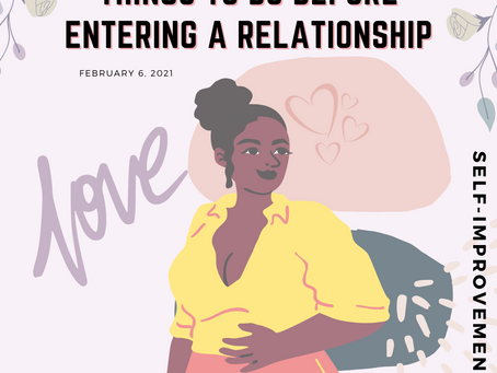 8 Things to do before entering a relationship